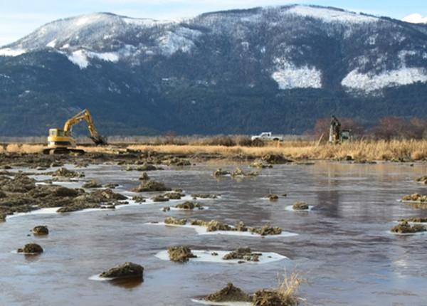 POST CVWMA wetland construction CVWMA image